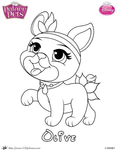 400x517 Free Princess Palace Pets Coloring Page Of Olive Skgaleana