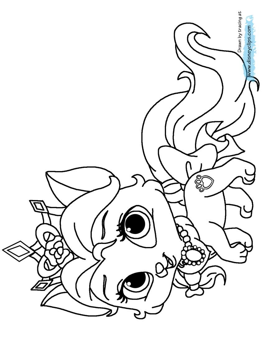 849x1085 Palace Pets Coloring Pages Best Of Disney Palace Pets Coloring