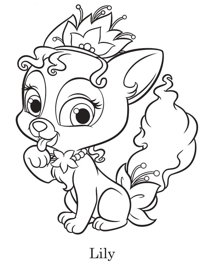 710x912 Princess Palace Pets Coloring Pages Best Of Disney Palace Pets