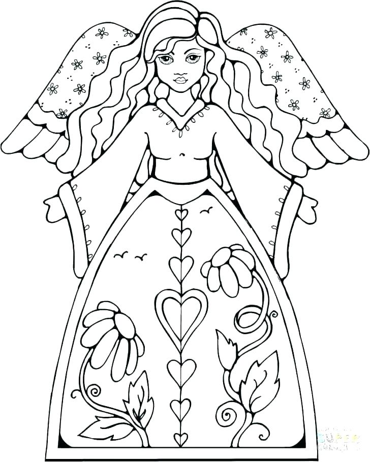 728x910 Angel Images To Color Angel