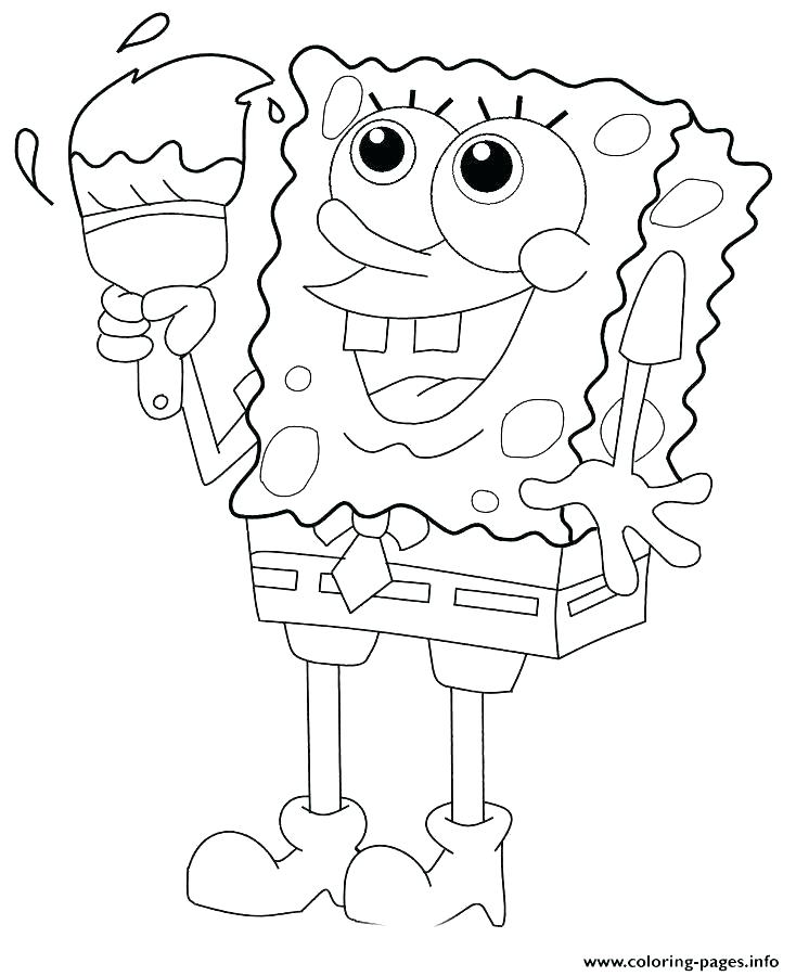 734x900 Awesome Paint Palette Coloring Page Image