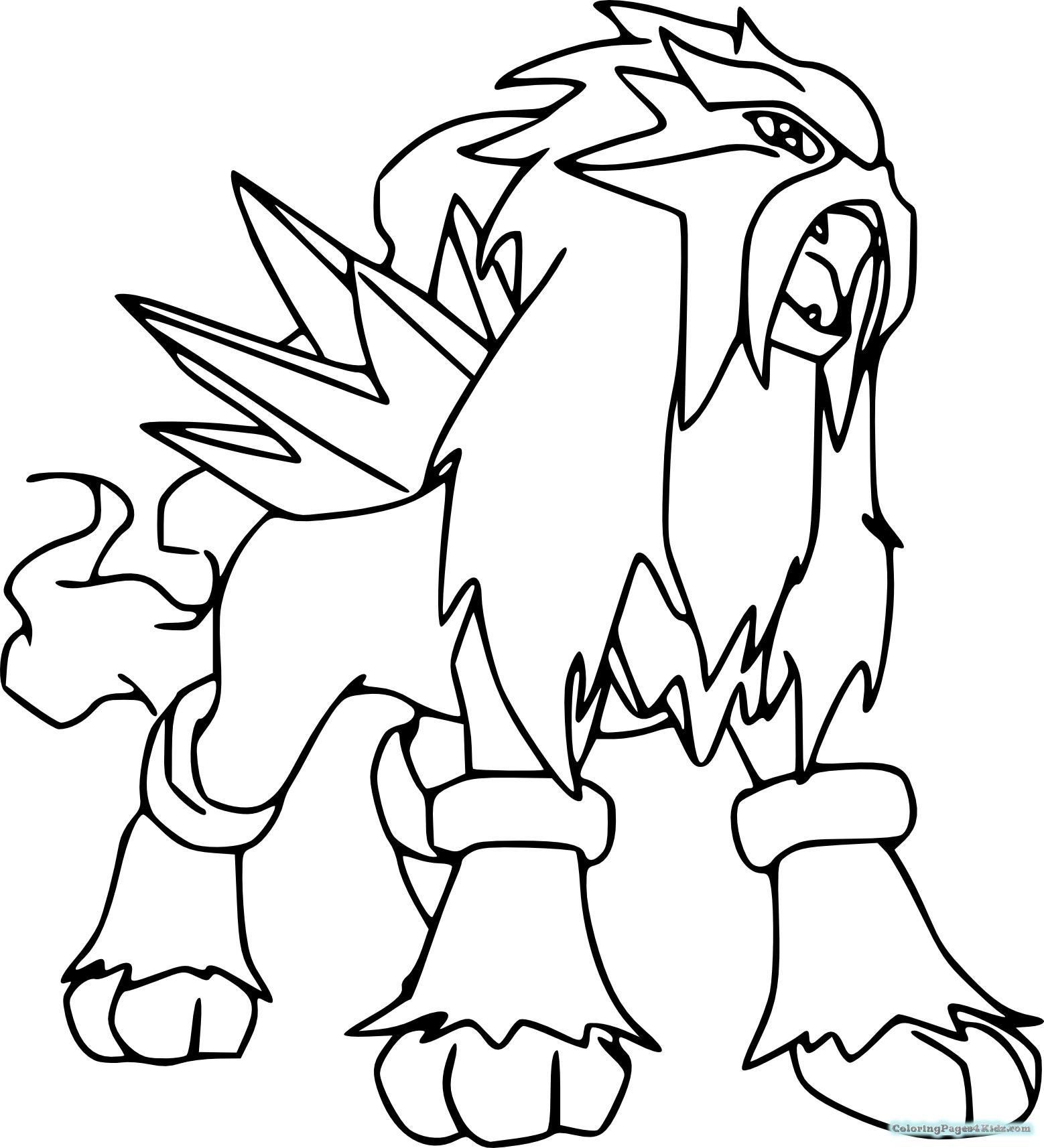 1558x1714 Legendary Pokemon Coloring Pages Palkia Free I Raikou