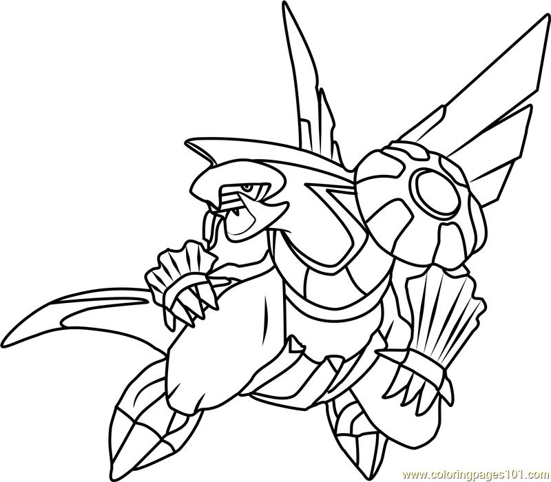 800x700 Palkia Pokemon Coloring Page