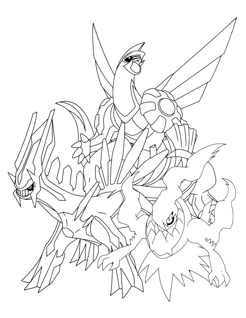 793x1024 Pokemon Coloring Pages Darkrai Dialga Palkia Colouri On C Images