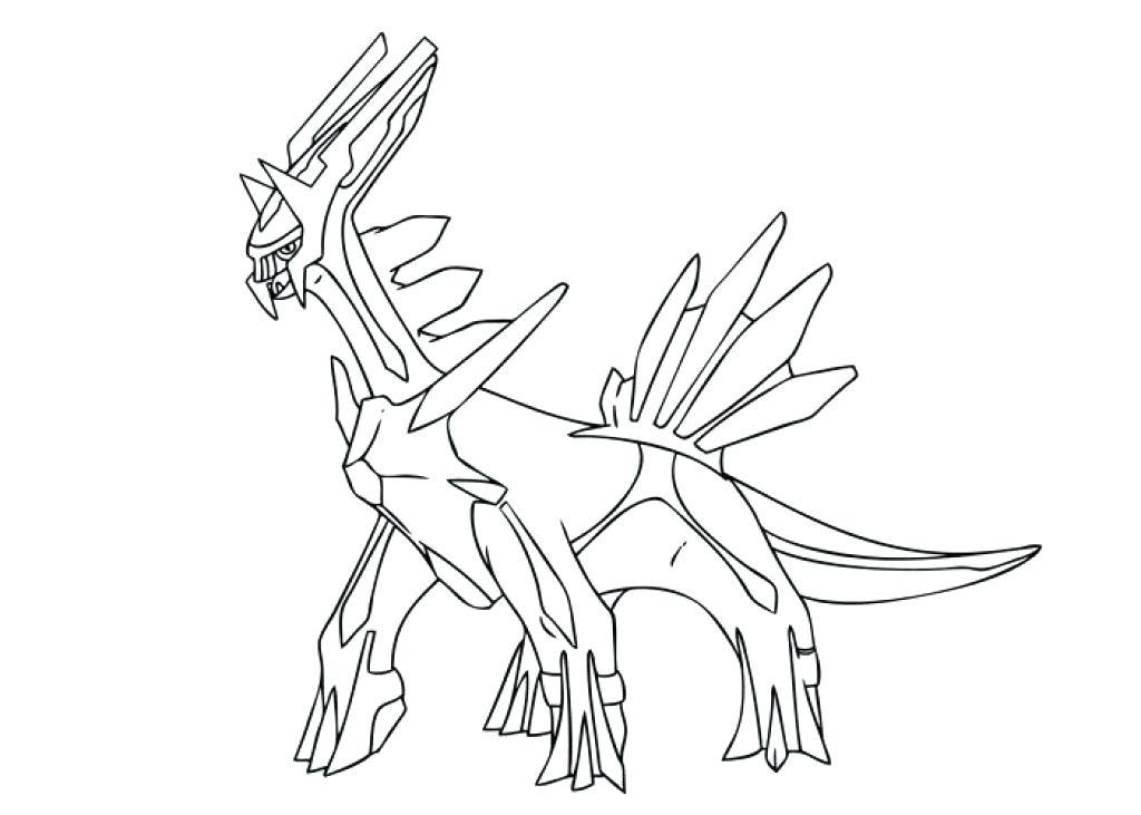 1024x731 Pokemon Coloring Pages Dialga Coloring Page Pages Regarding