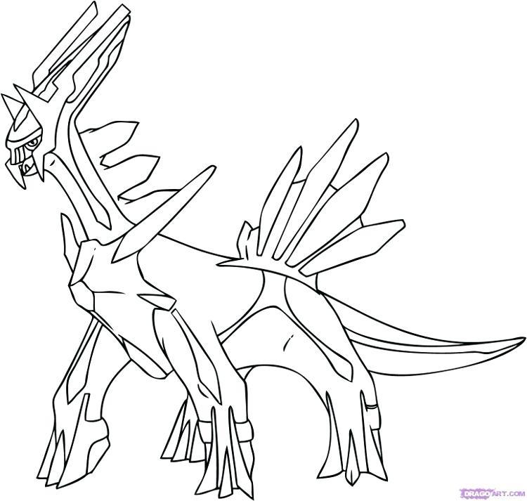 750x713 Dialga Coloring Pages Big Dragon Coloring Pages Pokemon Dialga