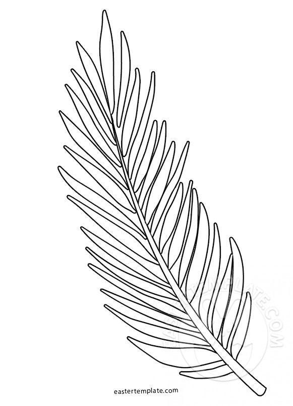581x803 Palm Sunday Coloring Page Palm Branch Template Easter Template
