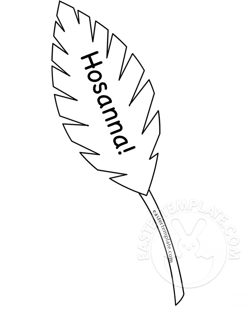 826x1030 Hosanna Palm Leaf Coloring Page Easter Template Also