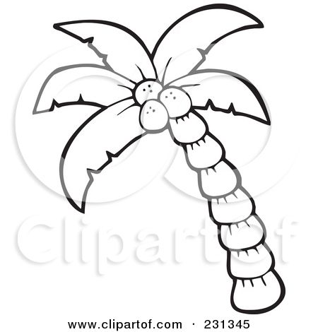 450x470 Palm Leaf Coloring Page