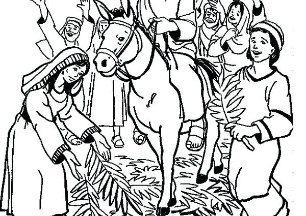 600x425 New Palm Sunday Coloring Pages For Palm Coloring Pages Palm