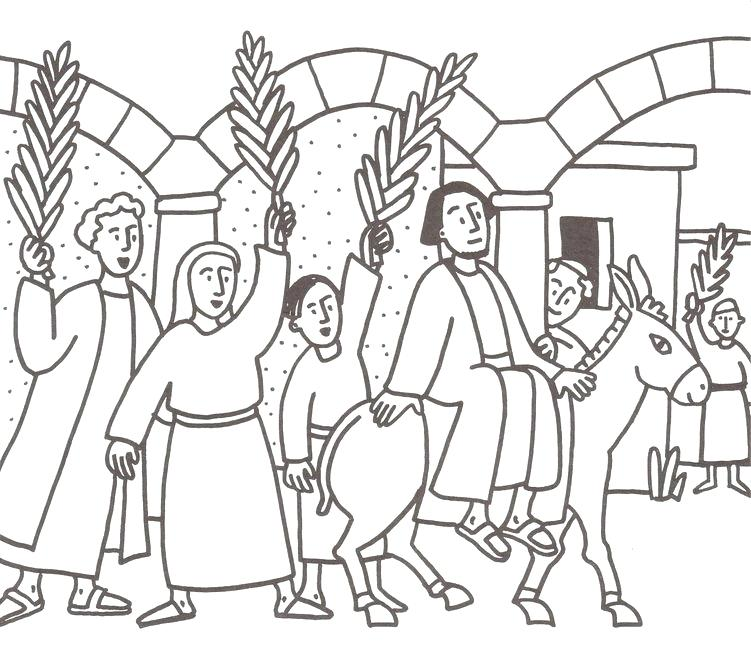 751x647 Palm Coloring Palm Coloring Page Palm Sunday Colouring Sheets