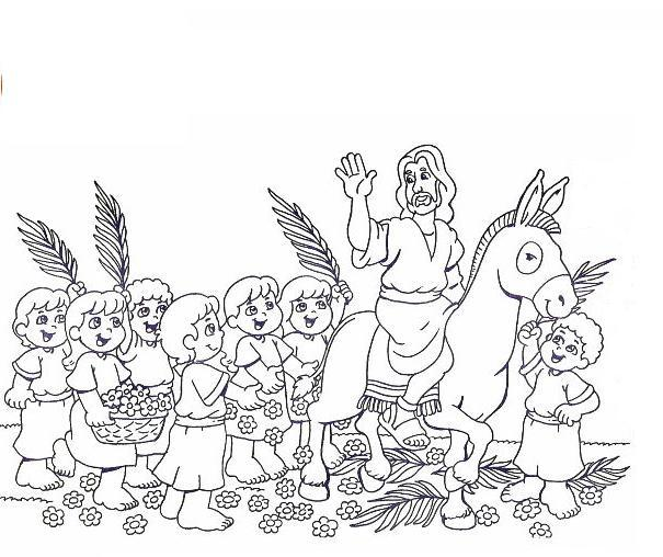 605x508 Palm Sunday Coloring Page