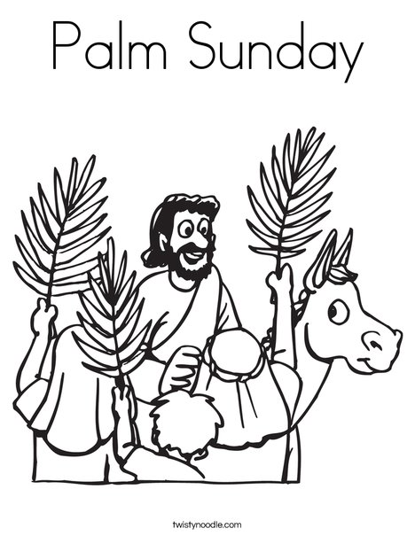 468x605 Palm Sunday Coloring Page
