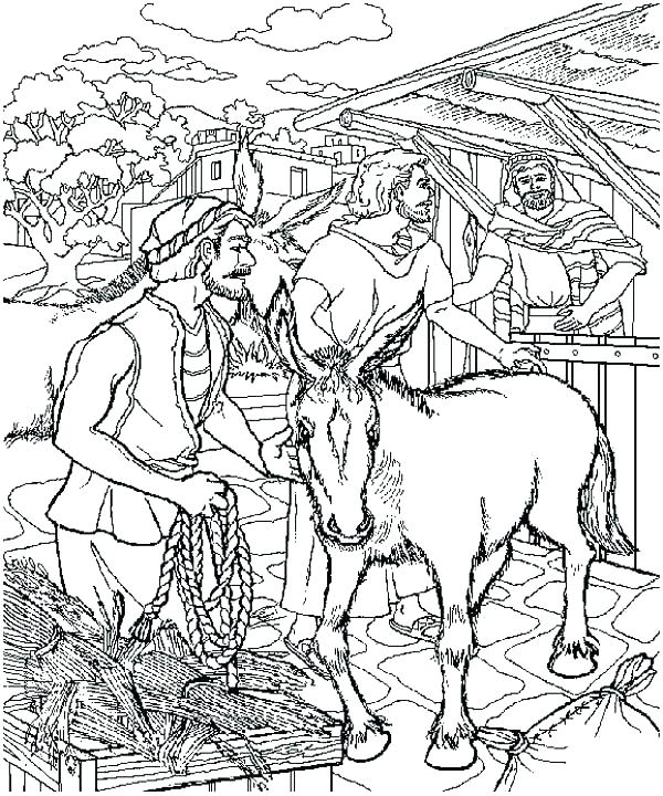 600x720 Palm Sunday Coloring Pages Jesus Page Sheets