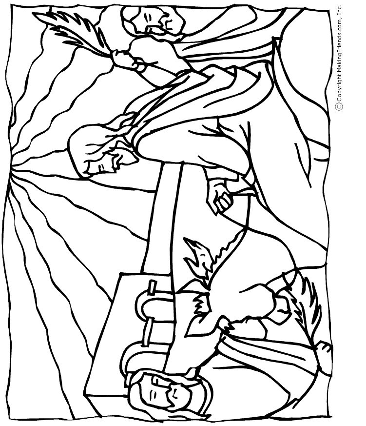 751x873 Palm Sunday Coloring Page