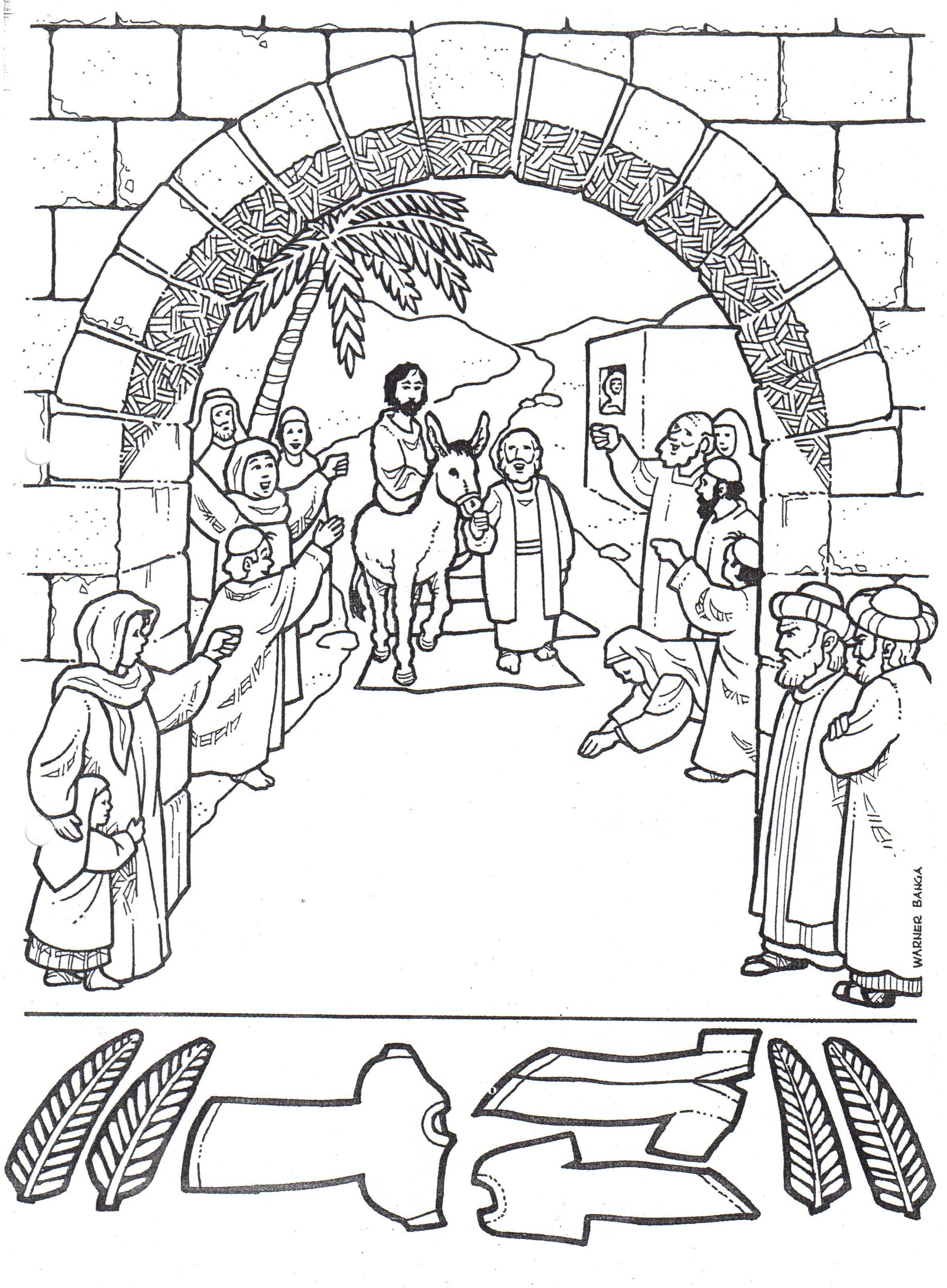 2357x3206 Free Palm Sunday Coloring Sheets Bible Lessons, Games