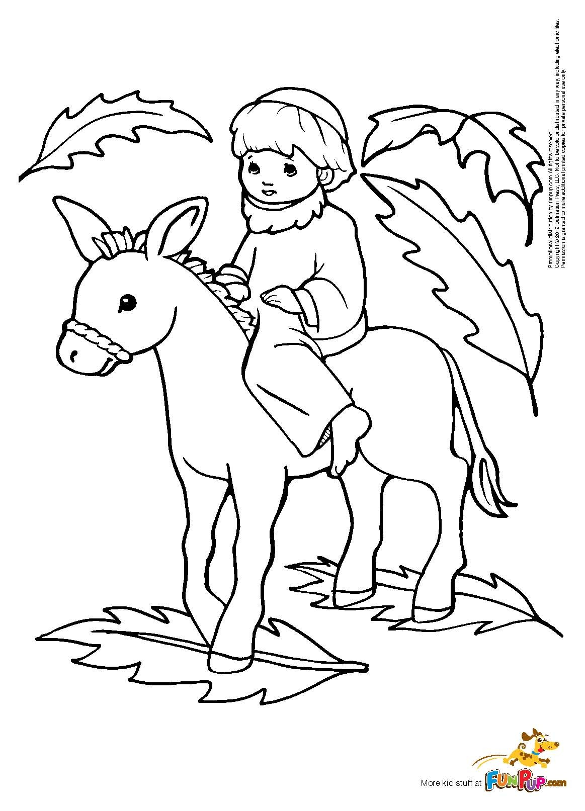 1163x1613 Palm Sunday Coloring Page