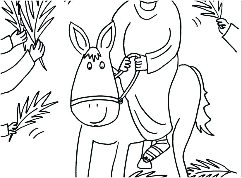827x609 Palm Sunday Coloring Page Coloring Page Of Capture Unconditional