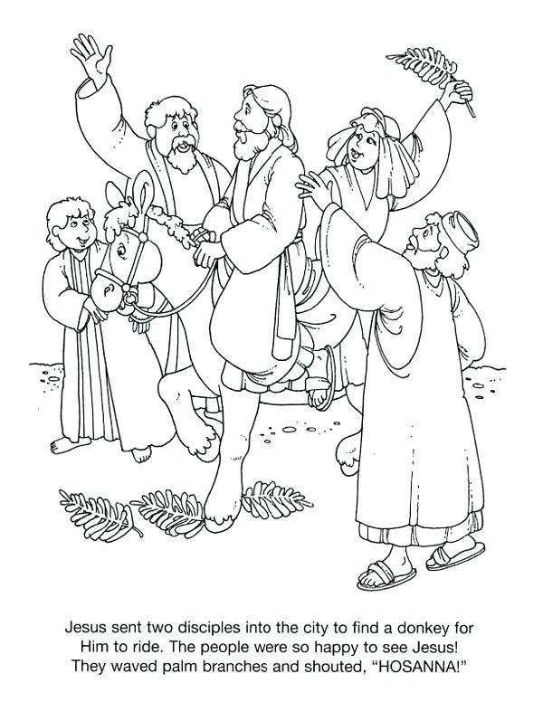 600x776 Palm Sunday Coloring Page History Of Palm Coloring Page Palm