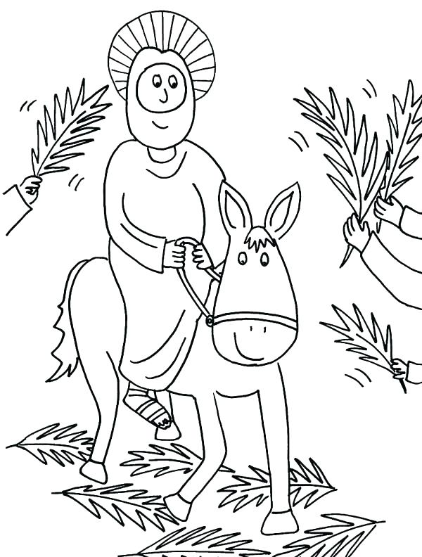 600x792 Palm Sunday Coloring Page Image Result For Activities For School