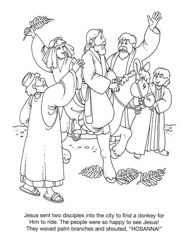 612x792 Palm Sunday Coloring Page Palm Coloring Sheet Palm Sunday Coloring