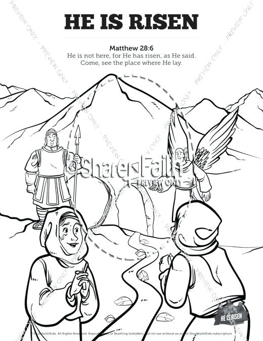 520x673 Coloring Pages For Easter Sunday Coloring Page He Is Risen School