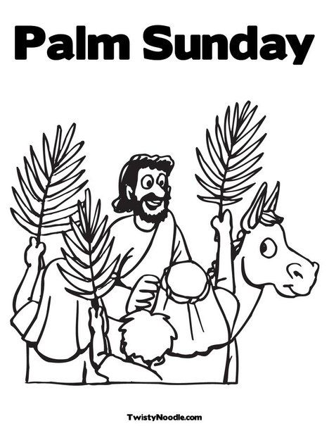 468x605 Palm Sunday Coloring Page From Happy Days