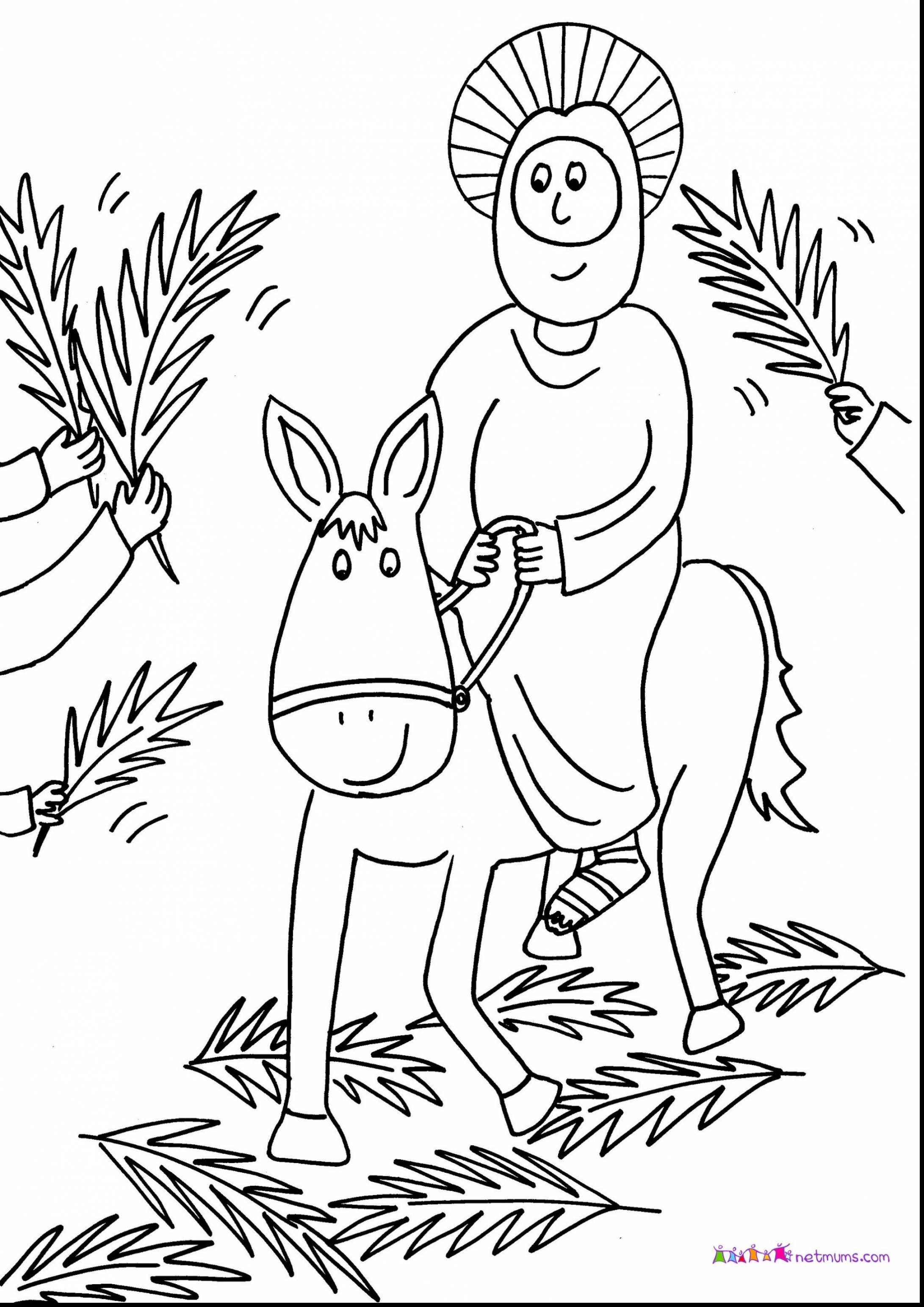 2182x3086 Palm Sunday Coloring Pages For Preschoolers Co Prepossessing Sheet