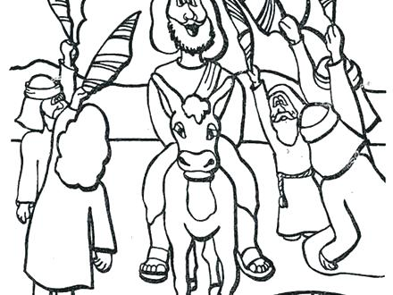 440x330 Palm Sunday Coloring Pages Palm Coloring Pages For Toddlers Bible