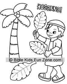 221x280 Palm Sunday Colorinig Page For Kids Showing A Child Waving Palm