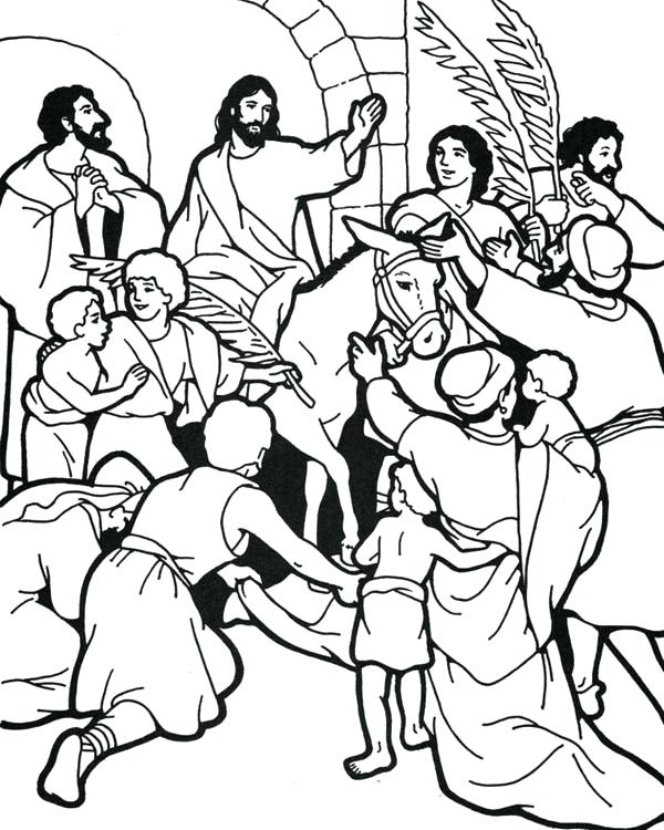 600x750 Palm Sunday Coloring Page Click The Palm Poster Coloring Pages