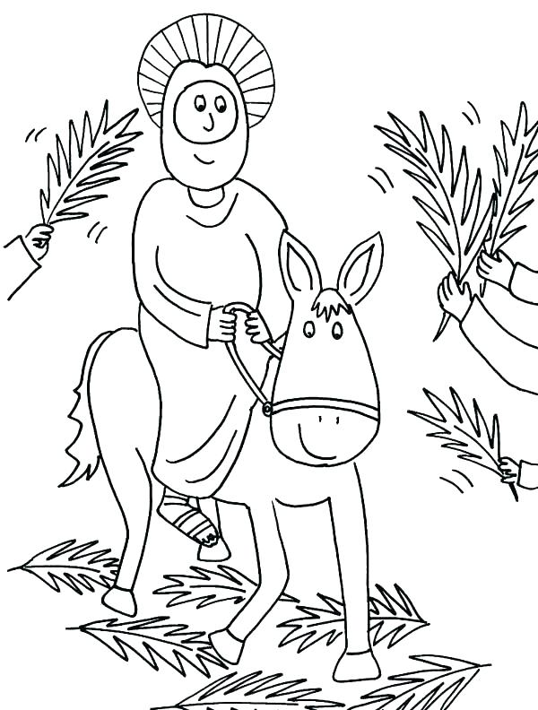 600x792 Palm Sunday Coloring Page Palm Coloring Page Catholic Palm