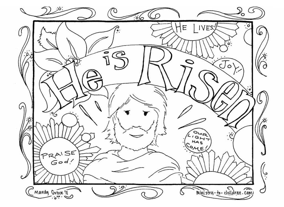 1200x877 Religious Easter Coloring Pages Free Activity Printables Inside