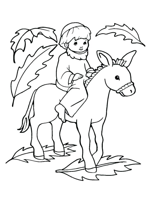 600x832 Palm Sunday Coloring Page Palm Coloring Pages Free Enchanting