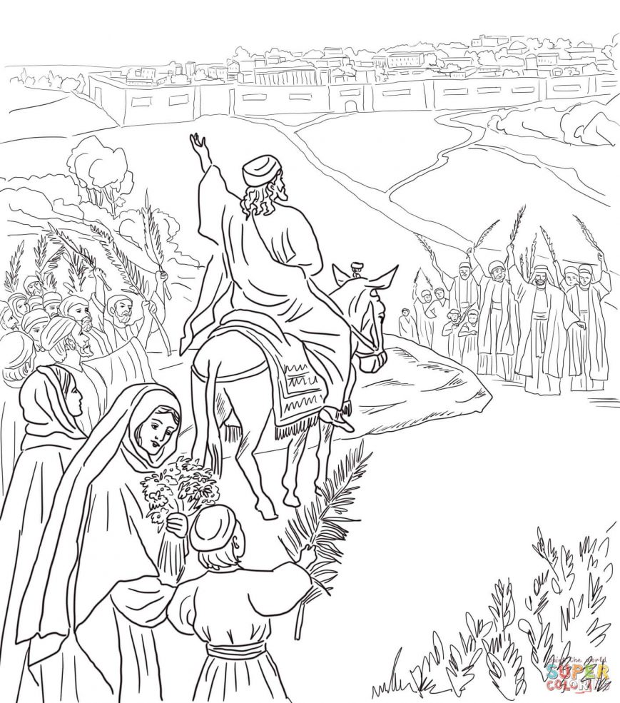 869x985 Palm Sunday Coloring Page Pictures Hd Pages Free Activity