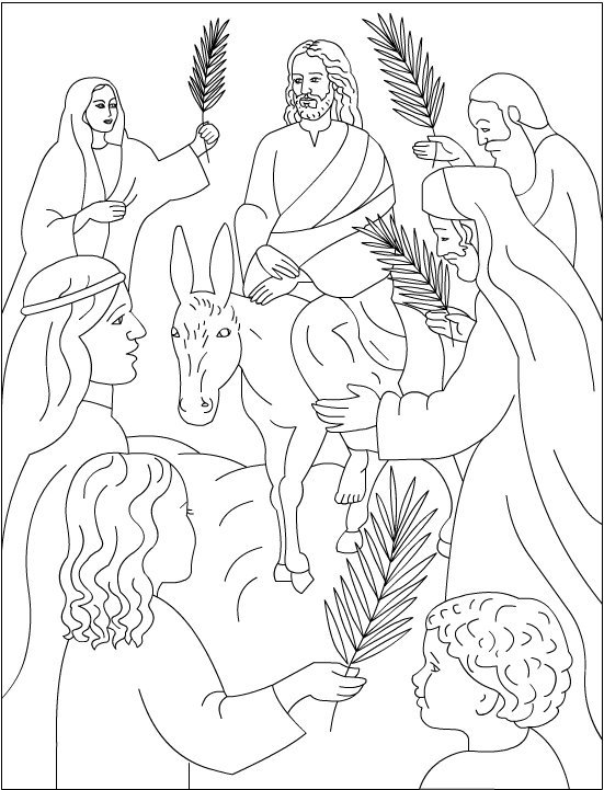 551x721 Palm Sunday Coloring Pages