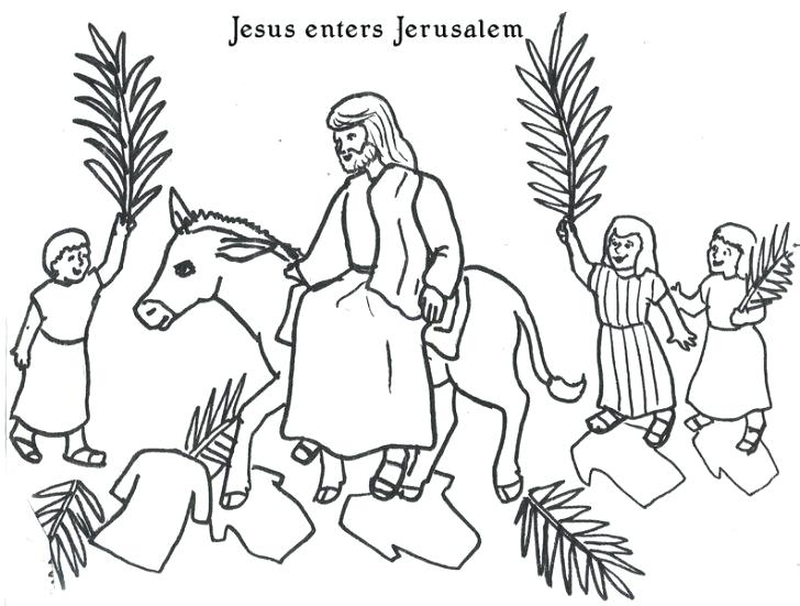 728x551 Palm Sunday Coloring Pages Catholic Sheets Free