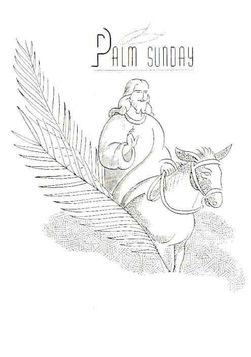 495x703 Palm Sunday Coloring Pages Palm Coloring Pages Palm Sunday