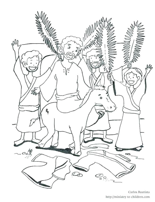 656x855 Palm Sunday Coloring Pages