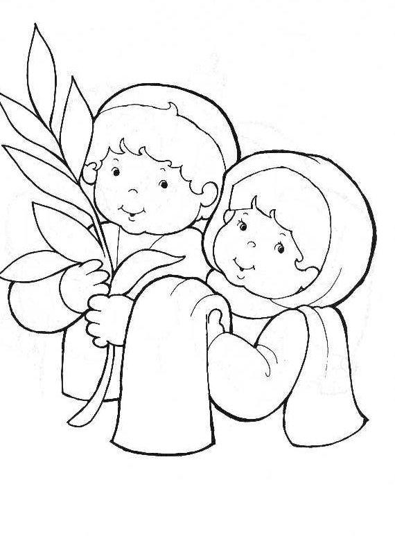570x774 Palm Sunday Coloring Page