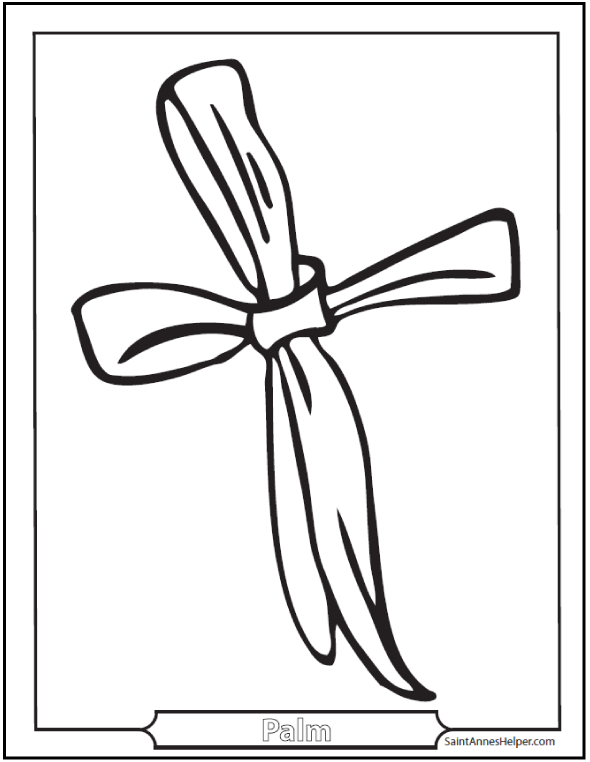 590x762 Palm Sunday Coloring Pages Jesus On The Sunday Before Easter