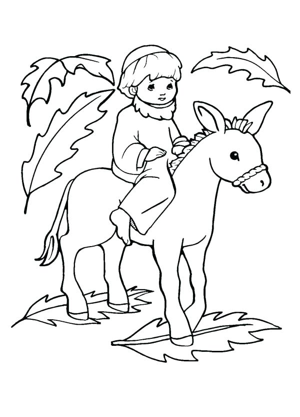 600x832 Palm Sunday Coloring Pages Palm Coloring Page Palm Sunday Coloring
