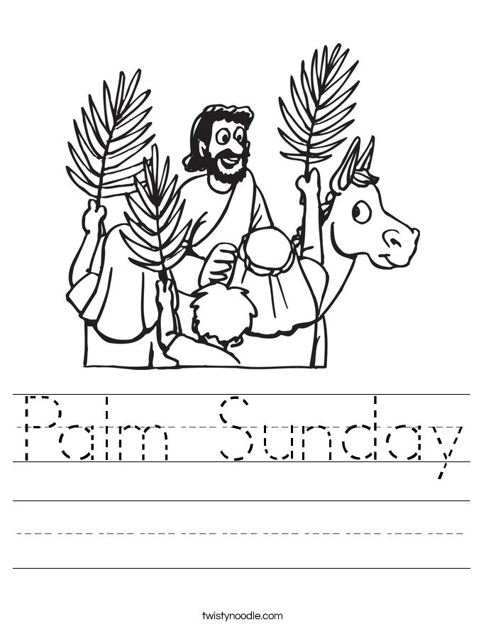 685x886 Palm Sunday Worksheet