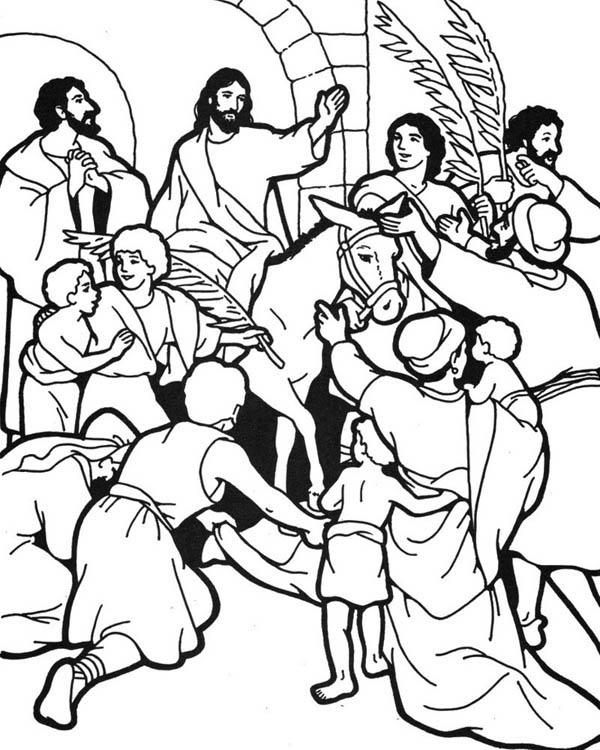 Palm Sunday Coloring Pages To Print at GetDrawings.com ...