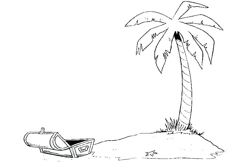 850x567 Palm Tree Coloring Pages Coconut Tree Coloring Coconut Palm Tree