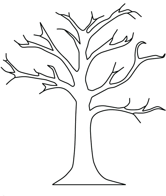 700x825 Coloring Pages Trees Bare Tree Without Leaves Coloring Pages Tree
