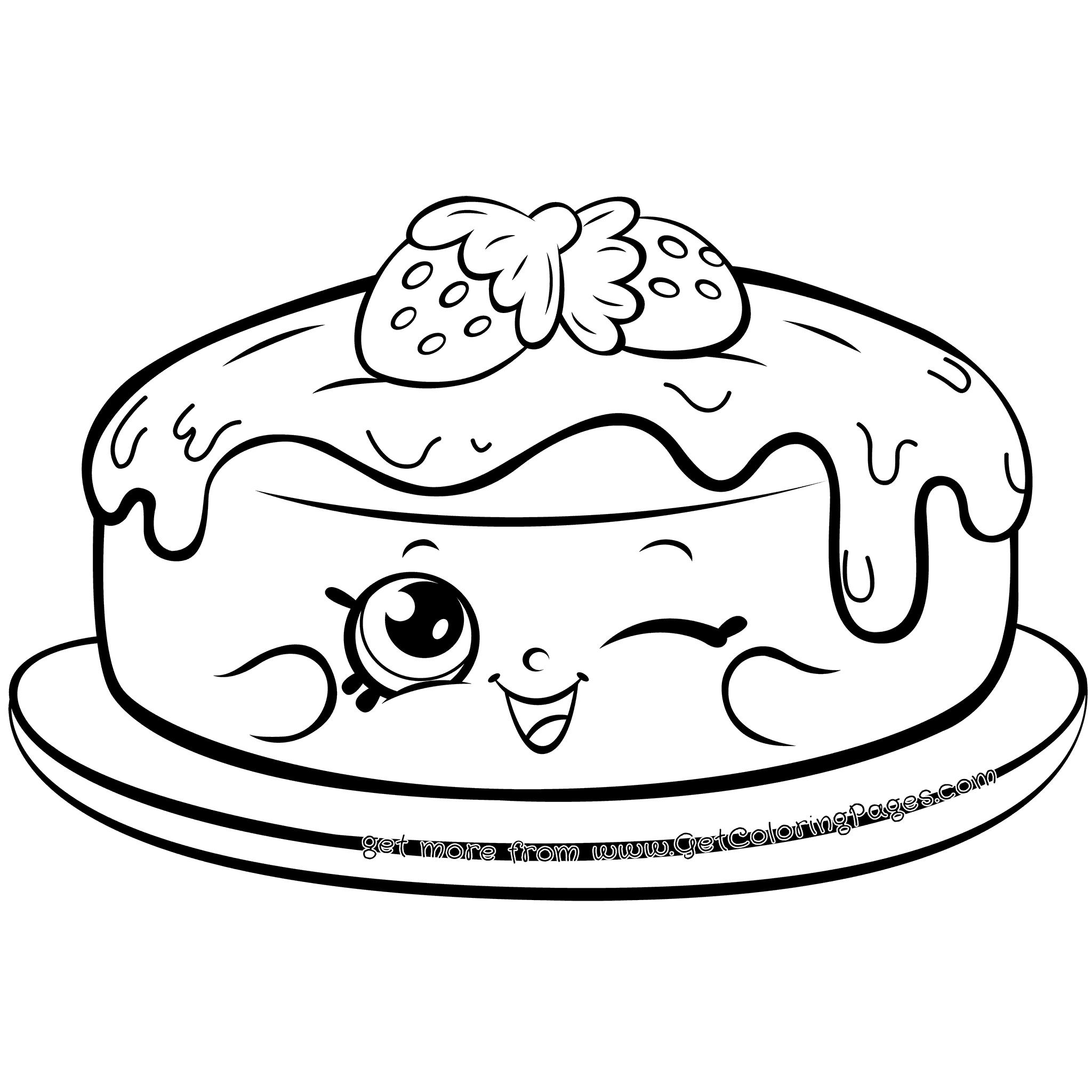 2048x2048 Happy Shopkins Cake Fran Pancake Coloring Page