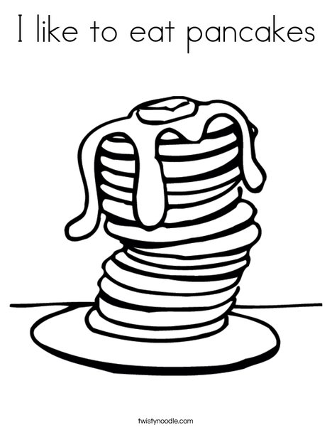 468x605 I Like To Eat Pancakes Coloring Page
