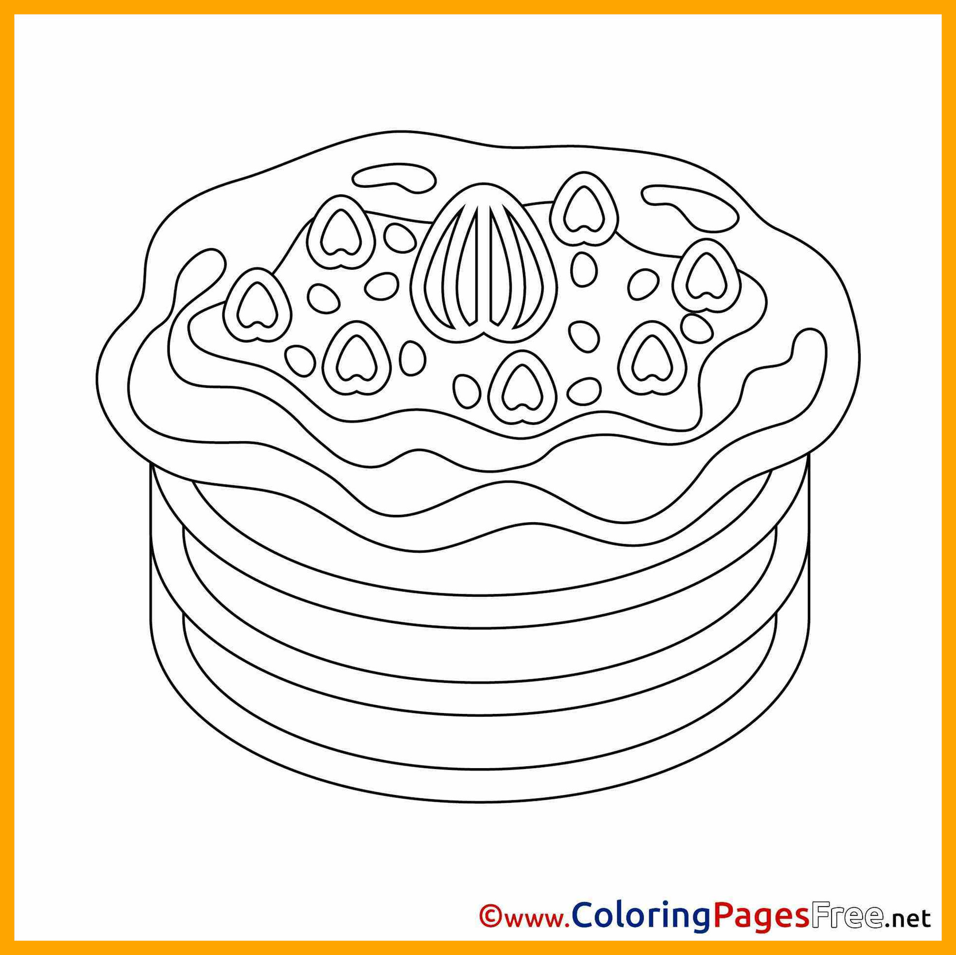 1958x1957 Inspiring Pancake Coloring Page Printable Bltidm For Pig A Styles