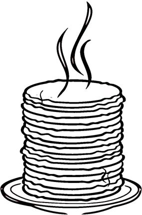 285x430 Loads Of Pancakes Coloring Page Preschool